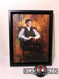 Thomas Shelby Art Print Canvas with floating shadow frame in choice of sizes