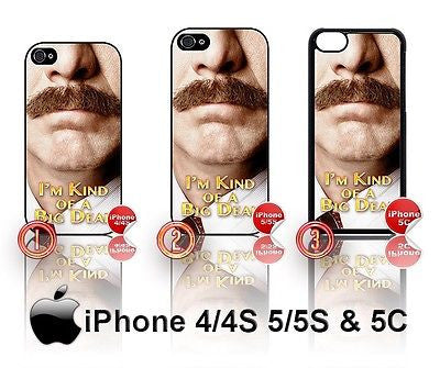 CHOICE OF RON BURGUNDY ANCHORMAN 2 CASE/COVER  FOR APPLE IPHONE 4/4S/5/5S/5C - Black Halo Design  - 1