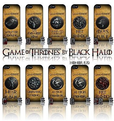 (NEW) ★ GAME OF THRONES ★ COVER/CASE FOR APPLE IPHONE 5 & 5S (SEASON 4) 5 G/5G  - Black Halo Design  - 1