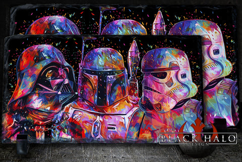 Star Wars Spatter Panoramic Natural Rock Slate