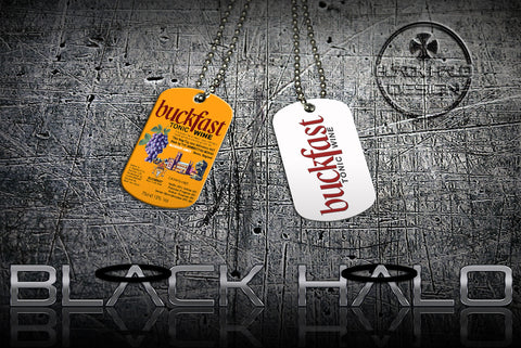 ★ BUCKFAST ★ DOG TAG NECKLACE OR KEYRING PENDANT(DOGTAG) #1 - Black Halo Design