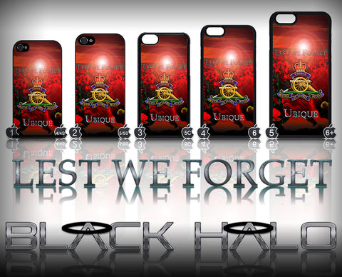 THE ROYAL REGIMENT OF ARTILLERY: POPPY ★ CASE/COVER FOR  APPLE IPHONE 4,4S,5,5S,5C,6 & 6 PLUS (RA) - Black Halo Design