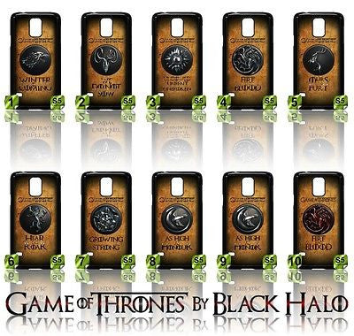 NEW) ★ GAME OF THRONES ★ COVER/CASE FOR SAMSUNG GALAXY S5/SV/I9600 (HOUSES) - Black Halo Design  - 1