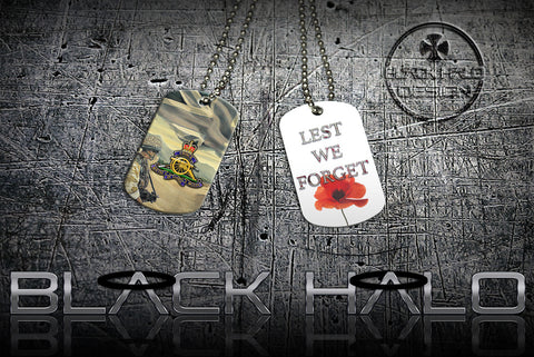 THE REGIMENT OF THE ROYAL ARTILLERY ★ DOG TAG NECKLACE/KEYRING #1 - Black Halo Design  - 2