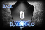 Disneys Frozen Double Sided Metal Pendant With Metal Ball Chain Necklace (Dog Tag) - Black Halo Design  - 3