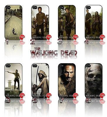 ★ THE WALKING DEAD ★ COVER/CASE FOR APPLE IPHONE 4/4S - Black Halo Design  - 1