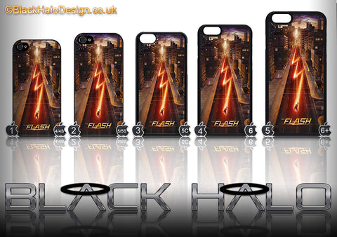 THE FLASH ★ CASE/COVER FOR  APPLE IPHONE 4/4S/5/5S/5C #1 - Black Halo Design