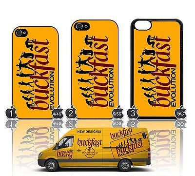 (New) Buckfast Evolution Case/Cover For  Apple iPhone 4/4S/5/5S/5C/6/6s Plus Tonic Wine - Black Halo Design  - 1