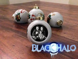 Personalised Christmas Bauble in Silver Glass or White Porcelain