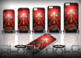 Royal Pioneer Corps: Poppy Sunset Design Case for Choice of iPhone Models - Black Halo Design  - 2