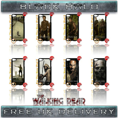 CHOICE OF THE WALKING DEAD CASE/COVER FOR APPLE IPOD TOUCH 5/5G/5TH GENERATION - Black Halo Design  - 1