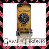 (NEW) ★ GAME OF THRONES ★ COVER/CASE FOR APPLE IPHONE 5 & 5S (SEASON 4) 5 G/5G  - Black Halo Design  - 12