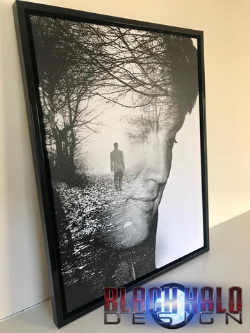 Elvis Presley Double Exposure Canvas With Floating Shadow Frame In Choice Of Sizes