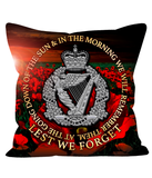 Royal Irish Regiment Cushions in choice of sizes RIR Lest We Forget