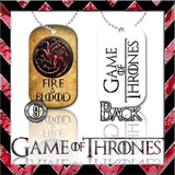 ★ CHOICE OF GAME OF THRONES ★ DOG TAG NECKLACE KEYRING/KEY CHAIN (DOGTAG) - Black Halo Design  - 9