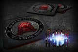 GAME OF THRONES: RED THRONE: YOU WIN OR YOU DIE SUBLIMATION COASTERS - Black Halo Design  - 2