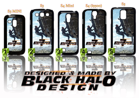 FAST & FURIOUS 7 CASE/COVER FOR SAMSUNG GALAXY S RANGE S3/S4/S5 (MINI) #2 Paul Walker - Black Halo Design