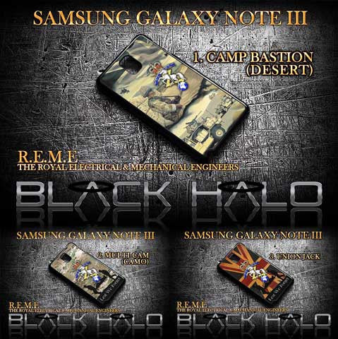 REME/R.E.M.E: Royal Electrical & Mechanical Engineers Case For Samsung Galaxy Note III (3) - Black Halo Design