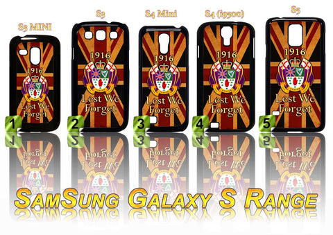 36TH ULSTER DIVISION CASE/COVER FOR SAMSUNG GALAXY S RANGE S3/S4/S5 - Black Halo Design  - 1