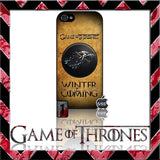 (NEW) ★ GAME OF THRONES ★ COVER/CASE FOR APPLE IPHONE 5 & 5S (SEASON 4) 5 G/5G  - Black Halo Design  - 7