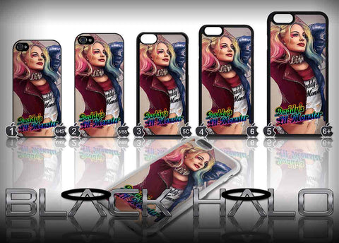Harley Quinn Daddy's Little Monster Case/Cover for choice of Apple iPhone 4-7 Plus #2