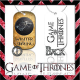 ★ CHOICE OF GAME OF THRONES ★ DOG TAG NECKLACE KEYRING/KEY CHAIN (DOGTAG) - Black Halo Design  - 4