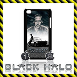 PAUL WALKER ★ CASE/COVER FOR  APPLE IPOD TOUCH 4/4G & 5/5G(FAST & FURIOUS) #3 - Black Halo Design  - 2