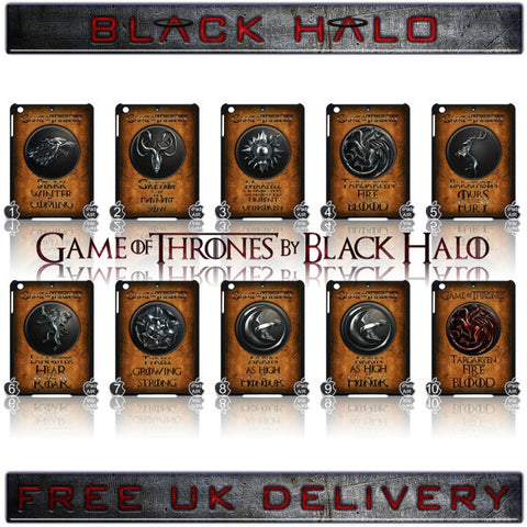 ★ CHOICE OF GAME OF THRONES HOUSE CRESTS ★ CASE/COVER FOR  APPLE IPAD AIR #2 - Black Halo Design  - 1