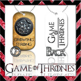 ★ CHOICE OF GAME OF THRONES ★ DOG TAG NECKLACE KEYRING/KEY CHAIN (DOGTAG) - Black Halo Design  - 10