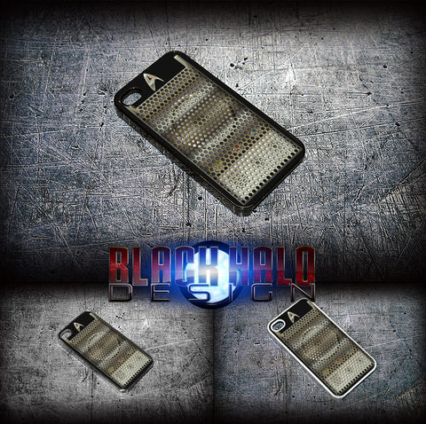 (NEW) STAR TREK COMMUNICATOR ★ CASE/COVER FOR  APPLE IPHONE 4,4S,5,5S,5C,6 & 6 PLUS - Black Halo Design  - 2