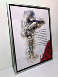 A British Soldier Poem: Poppy Canvas with floating shadow frame