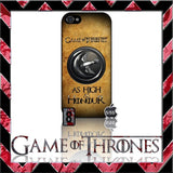 (NEW) ★ GAME OF THRONES ★ COVER/CASE FOR APPLE IPHONE 5 & 5S (SEASON 4) 5 G/5G  - Black Halo Design  - 8