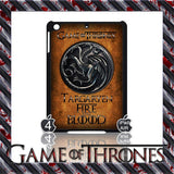 ★ CHOICE OF GAME OF THRONES HOUSE CRESTS ★ CASE/COVER FOR  APPLE IPAD AIR #2 - Black Halo Design  - 7