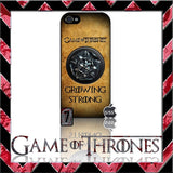(NEW) ★ GAME OF THRONES ★ COVER/CASE FOR APPLE IPHONE 5 & 5S (SEASON 4) 5 G/5G  - Black Halo Design  - 5