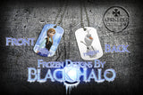 Choice of Disneys Frozen Double Sided Metal Pendant With Metal Ball Chain Necklace (Dog Tag) - Black Halo Design  - 5