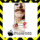 CHOICE OF RON BURGUNDY ANCHORMAN 2 CASE/COVER  FOR APPLE IPHONE 4/4S/5/5S/5C - Black Halo Design  - 2