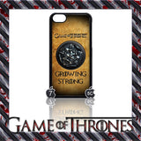 (NEW) ★ GAME OF THRONES ★ COVER/CASE FOR  APPLE IPHONE 5C (SEASON 4) 5 C  - Black Halo Design  - 2