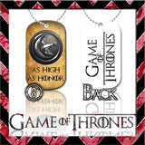★ CHOICE OF GAME OF THRONES ★ DOG TAG NECKLACE KEYRING/KEY CHAIN (DOGTAG) - Black Halo Design  - 6