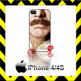CHOICE OF RON BURGUNDY ANCHORMAN 2 CASE/COVER  FOR APPLE IPHONE 4/4S/5/5S/5C - Black Halo Design  - 3