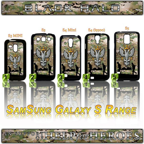 THE MERCIAN REGIMENT CASE/COVER FOR SAMSUNG GALAXY S RANGE S3/S4/S5 H4H - Black Halo Design