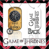 ★ CHOICE OF GAME OF THRONES ★ DOG TAG NECKLACE KEYRING/KEY CHAIN (DOGTAG) - Black Halo Design  - 3