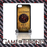(NEW) ★ GAME OF THRONES ★ COVER/CASE FOR  APPLE IPHONE 5C (SEASON 4) 5 C  - Black Halo Design  - 9