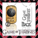 ★ CHOICE OF GAME OF THRONES ★ DOG TAG NECKLACE KEYRING/KEY CHAIN (DOGTAG) - Black Halo Design  - 7