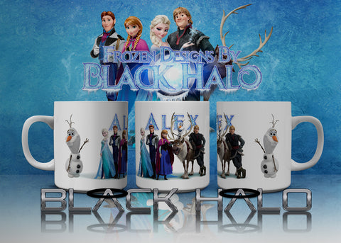 Frozen Personalised 10oz Ceramic Mug #1 - Black Halo Design