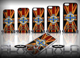 Northern Ireland: Our Wee Country: Union Jack Case/Cover for choice of Apple iPhone 4-6s Plus :#2 - Black Halo Design  - 1