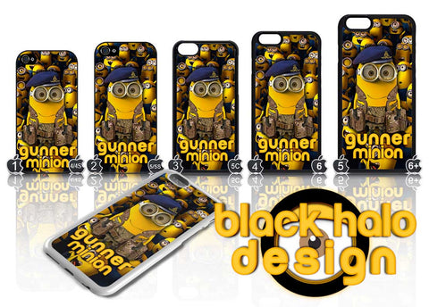 GUNNER MINION: THE REGIMENT OF THE ROYAL ARTILLERY (RA) ★ CASE/COVER FOR  APPLE IPHONE 4,4S,5,5S,5C,6 & 6 PLUS - Black Halo Design