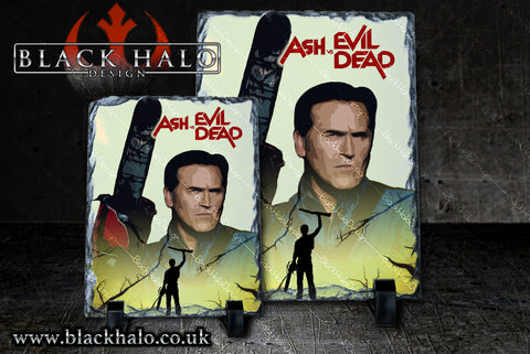Ash vs Evil Dead Natural Rock Slate in choice of artwork & sizes
