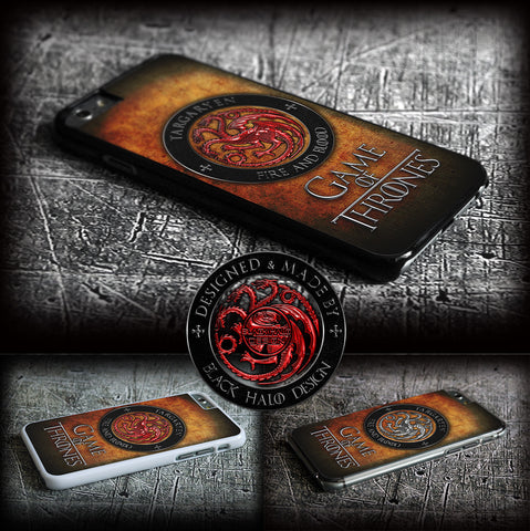 GAME OF THRONES: TARGARYEN COVER/CASE FOR  APPLE IPHONE 6 - Black Halo Design