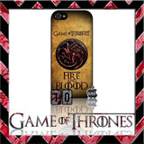 (NEW) ★ GAME OF THRONES ★ COVER/CASE FOR APPLE IPHONE 5 & 5S (SEASON 4) 5 G/5G  - Black Halo Design  - 9