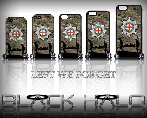 Coldstream Guards Multi-Cam Case/Cover for choice of Apple iPhone 4-6s Plus (Second to None) Camo - Black Halo Design